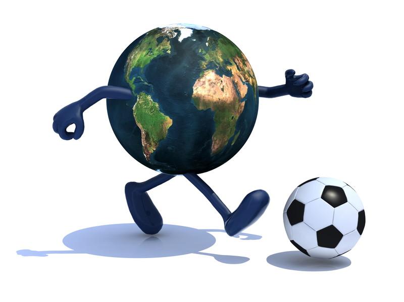 地球とサッカー